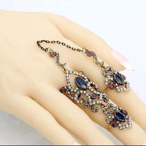 Arabic Ring Set- Sapphire n Ruby